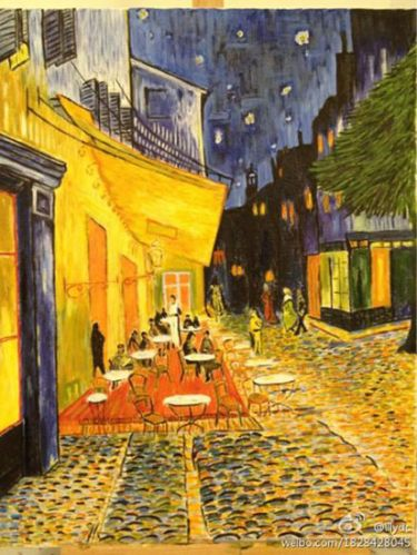 Cafe Terrace at Night (after Van Gogh)