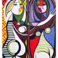 Girl in the Mirror (after Picasso)