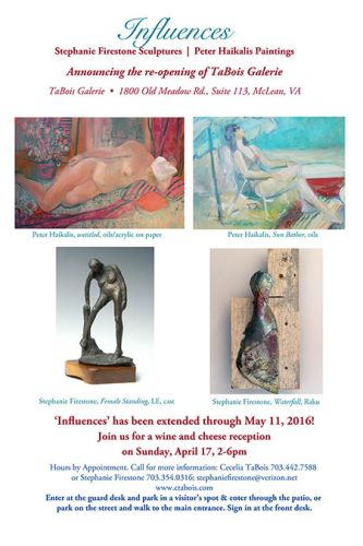 Influences art show extended